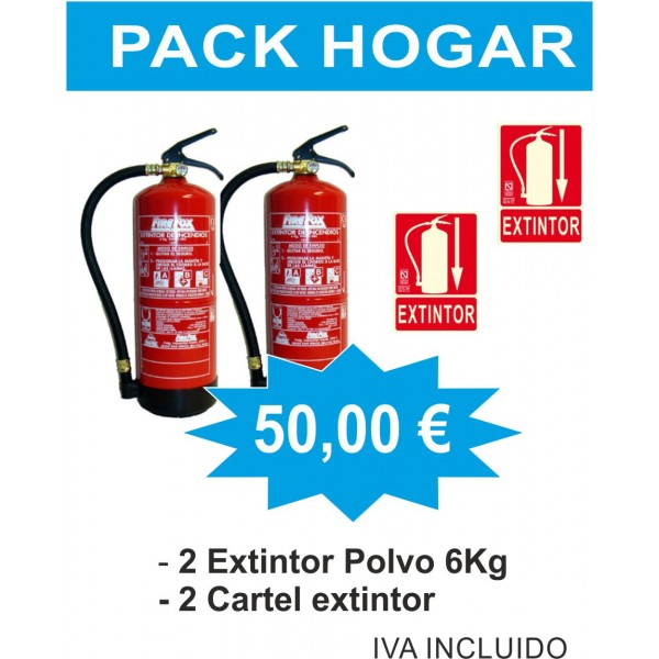 EXTINTOR PACK AHORRO HOGAR