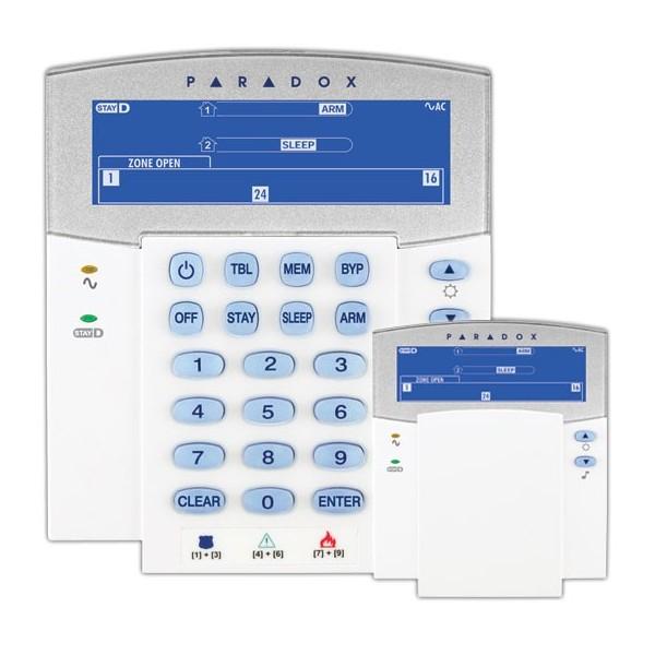K35 |  Teclado LCD Cableado de 32 Zonas